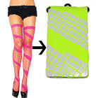 NEW SEXY NEON COLORED SWIRL DIAMOND NET SPANDEX THIGH HIGH STOCKINGS -Leg Avenue