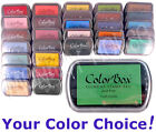 Colorbox PIGMENT Inkpad (COLORS A thru L) archival opaque ink rubber stamp pad