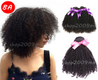 3 Bundles Mix Length Virgin Brazilian Human Hair Extension Remy afro Kinky Curly