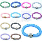 New Stylish Mesh Magnetic Stardust Crystal Bracelet Bangle Clasp Single Wrap