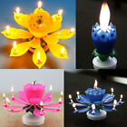 Birthday Magical Amazing Blossom Lotus Musical Rotating Candle Flower Light Gift