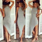 New Fashion Women High-Necked Sleeveless Irregular Long Dress Clothes Reliable