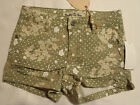 Vanilla Star Jeans Shorts Olive Drab Floral NWT Size 4 6 7 8 10 14 Choice