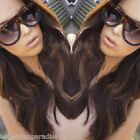 Shadow Designer Flat Top Aviator Oversized Women Sunglasses Gradient Ombre