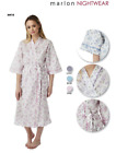 LADIES  COTTON MIX WRAP DRESSING GOWN ROBES WITH POCKETS