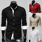 Party Business Mens Slim Fit Casual Shirts Long Sleeve Dress Shirts Stylish Tops