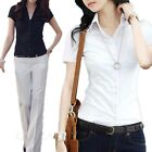 Work Button Down Career Fashion Office Female Business Ladies Top UK sz 6-18