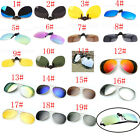 19 Colors Men/Women Polarized UV400 Lens Clip-on Flip-up Myopia SunGlasses HQZ