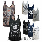 Mens Crosshatch Series 55 Vest Top Sleeveless Muscle Vest Top Crew Neck Gym Vest