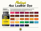 New Fiebing's Leather or Suede Dye w/ Applicator USA Made 28 COLORS 4 OZ Bottles