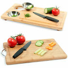 Large Wooden Bamboo Chopping Cutting Board Wooden Kitchen Worktop Saver Food