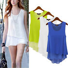 Sexy Womens Summer Loose Casual Chiffon Sleeveless Vest T Shirt Blouse Tops