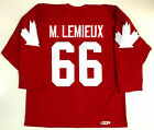 MARIO LEMIEUX 1987 CANADA CUP AUTHENTIC JERSEY WITH FIGHT STRAP
