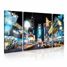 NEW YORK CITY Manhattan Time Square Canvas Framed Print 20 ~ 3 Panels
