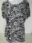 Old Navy womens relaxed Fit black print t shirt tee Xlarge XXlarge cotton