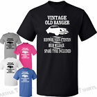 Vintage old banger funny birthday gifts, T-Shirt New cotton crew neck him or her