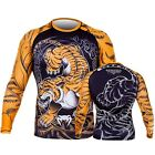 Venum Tiger Long Sleeve Rashguard (Black/Orange)