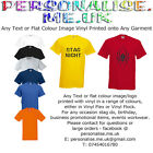 Personalised FATHER'S DAY Men's T-Shirts-Vinyl Flex/Vinyl Flock.Any Ocassion