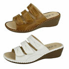 Ladies Eaze velcro fastening mule sandals F3110