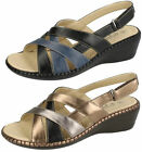 Ladies Eaze velcro strap wedge sandals F3112