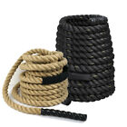 "1.5"" 100% Poly Dacron 30/40/50 ft Battle Rope Exercise Workout Strength Training"