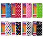 Durable Polka Dot Glossy Soft Silicone Case Cover for Samsung S5 S6 Note4 //
