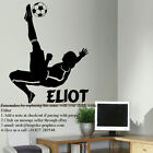 EXTRA LARGE PERSONALISED FOOTBALLER FOOTBALL WALL ART STICKER TRANSFER DECAL