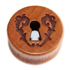 Wooden Double Flared Saddle Flesh Ear Plug with Cut Out Key Hole Plugs Heart