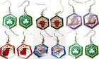 NBA Team Aminco Hex Style Dangle Earrings - Pick Your Team