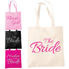 Wedding Favour Shopper Tote Bag - Gift Present Keepsake Hen Party Novelty Bags