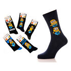 Mens Official Despicable Me Socks Minion Socks Size 6-11 1 Pair NEW Free P&P