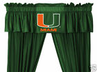 Miami Hurricanes Curtains & Valance Set with Tie Backs