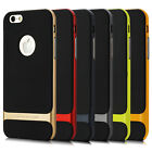 """For iPhone 6 4.7"""" Plus 5.5"""" 5 5S Hybrid Hard Bumper Soft Rubber Skin Case Cover"""