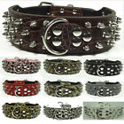 Large Dog Leather Dog Collars Spiked Studded Personalized Pitbull Pet Collars
