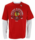Reebok NHL Hockey Men's Chicago Blackhawks Long Sleeve Novelty Thermal Shirt,Red