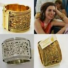 Amrita Singh Cuff Bracelet Reina Paisley Gold Brass Silver New Seen on Celebrity