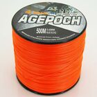 Orange 100M 300M 500M 1000M 100% PE Dyneema Agepoch Braided Fishing Line Sports
