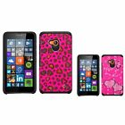For Microsoft Lumia 640 Advanced Armor Hybrid Hard Silicone Protector Cover Case