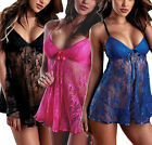 Sexy Lingerie Lace Dress Robe G-String Underwear Nightwear Sleepwear Babydoll