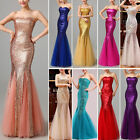 NEW Sequined Mermaid Formal Prom Cocktail Party Bridesmaid Long Evening Dress