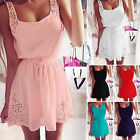 Summer Womens Chiffon Casual Sleeveless Party Evening Cocktail Short Mini Dress