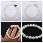 Handmade Jewelry 7-8mm White Freshwater Pearl Jade Tiger's Eye Gemstone Bracelet