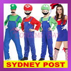 Kids Womens Mens Super Mario Luigi Brothers Plumber Mushroom Nintendo Costume
