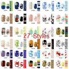 27 Styles Flower Cartoon Design Nail Art Stickers Decal Water Transfer Manicure