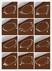 28 Various Styles 925Sterling Silver Fashion Jewelry Women Men Zircon Anklets