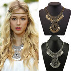 Bohemian Festival Jewelry Fashion Women Double Chain Coin Statement Necklace HOT