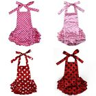 Baby Kids Girls Toddlers Lace Flower Romper Sunsuit Outfits Clothing One-Pieces