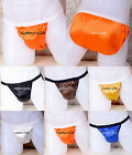 1 pc Men's 100% Pure Silk Bikinis Briefs Underwear Thongs Size M-2XL SU247