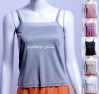 Womens Ladies 100% Pure Silk Knitted Cami Sleeveless Tops Camisole AF392