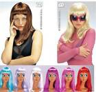 Long Straight Wig Brown Blonde Purple Red Cleopatra Drag Queen Fancy Dress